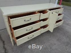 Vtg Faux Bamboo Louvered Door Dresser Henry Link Bali Hai Credenza Sideboard MCM