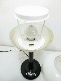 Vtg GERALD THURSTON LIGHTOLIER MUSHROOM TABLE LAMP Mid Century SPACE AGE Retro