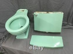 Vtg Mid Century Jadeite Ming Green Porcelain Toilet Standard WE SHIP 19-19E