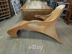 Vtg Mid Century MODERN 1960's ART SCUPLTURE Lounge Chair MCM Eames Era