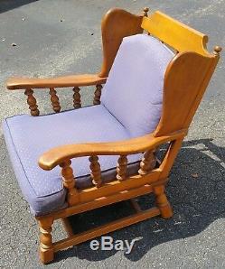 Vtg Mid Century Modern CUSHMAN Style Platform Rocker Chair Colonial Lodge Cabin