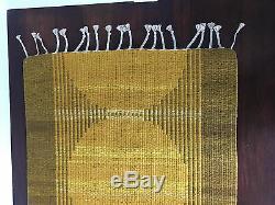 Vtg Mid Century Scandinavian Reversible Swedish Kilim RUG Wall Hanging Pop Art