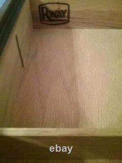 Vtg RAWAY Mid Century Modern Highboy Tall Dresser Chest Walnut NORTHERN FURN