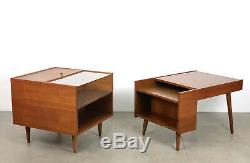 Vtg Stanley Young Glenn California Attr Cube End Side Table Mid Century Modern