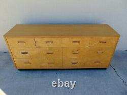 Vtg TLC Henredon Scene Two Olive Burled Wood Dresser Credenza Mid Century Modern