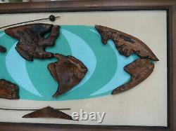 WITCO World Globe map Original Vintage Mid Century William Westenhaver Art