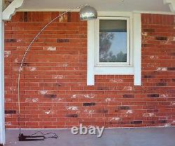 WORKING 1960's Vintage Mid Century Modern 7 Feet High Arc Chrome Floor Lamp