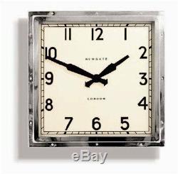 Wall Clock Vintage Retro Mid Century Square Iconic Design Restoration Hardware