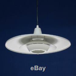 White Multi-Shade Danish Pendant Lamp 1970s Vintage Retro Mid Century Modern